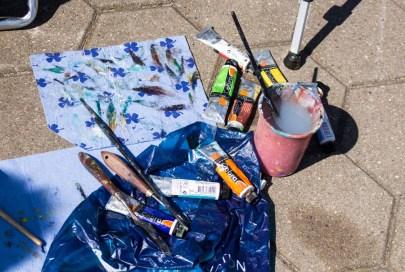 Plein Air Festival 2018 - Arbeitsmaterial der Ölmaler (c) Frank Koebsch (1)