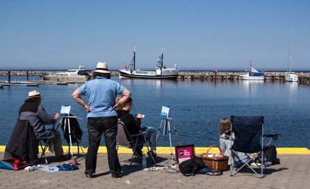 Plein Air Festival 2018 - Ölmaler mit Thomas Freund in der Marina von Kühlungsborn (c) Frank Koebsch (5)