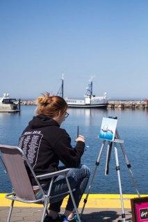Plein Air Festival 2018 - Ölmalerin in der Marina von Kühlungsborn (c) Frank Koebsch (1)