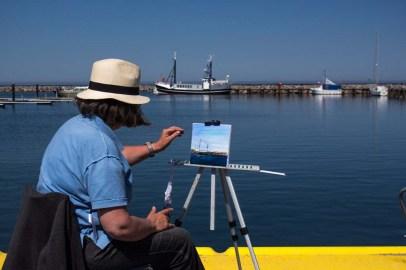 Plein Air Festival 2018 - Ölmalerin in der Marina von Kühlungsborn (c) Frank Koebsch (3)