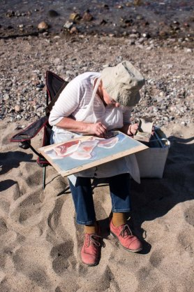 Plein Air Festival 2018 - Pastellmaler am Strand von Heiligendamm (c) Frank Koebsch (12)