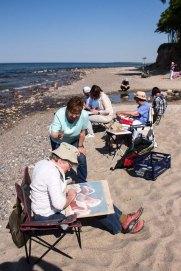 Plein Air Festival 2018 - Pastellmaler am Strand von Heiligendamm (c) Frank Koebsch (15)
