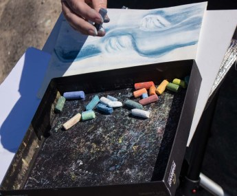 Plein Air Festival 2018 - Pastellmaler am Strand von Heiligendamm (c) Frank Koebsch (6)