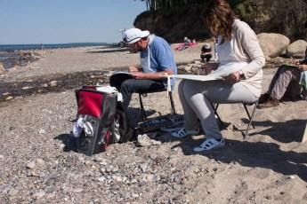 Plein Air Festival 2018 - Pastellmaler am Strand von Heiligendamm (c) Frank Koebsch (7)