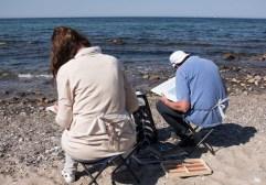 Plein Air Festival 2018 - Pastellmaler am Strand von Heiligendamm (c) Frank Koebsch (8)