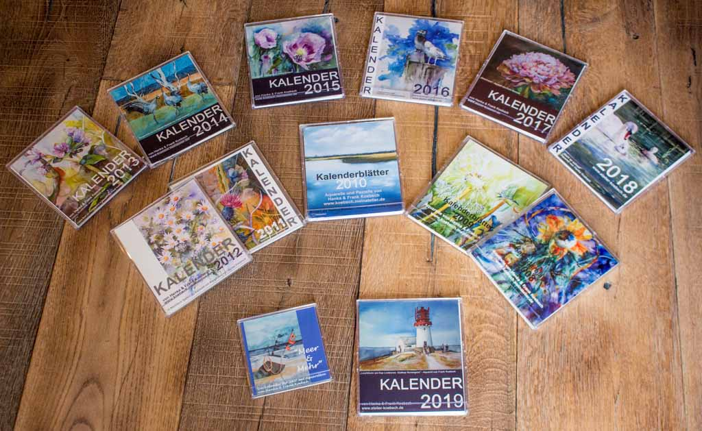 Kalender 2007 - 2019 mit Aquarellen von Hanka und Frank Koebsch
