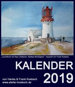 Kalender 2019 mit Aquarellen von Hanka & Frank Koebsch
