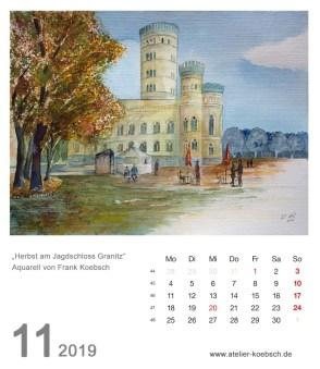 Kalenderblatt November 2019