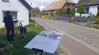 Malen in der Bodden Straße von Groß Zicker (c) FRank Koebsch (2)