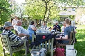 Plein Air Festival 2018 - Die Aquarellmaler werten in der Alten Büdnerei Ihren Workshop aus (c) Frank Koebsch (1)