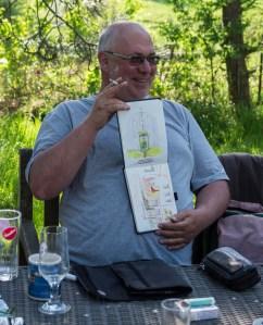 Plein Air Festival 2018 - Die Aquarellmaler werten in der Alten Büdnerei Ihren Workshop aus (c) Frank Koebsch (31)