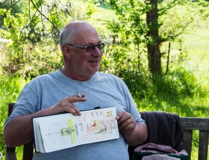 Plein Air Festival 2018 - Die Aquarellmaler werten in der Alten Büdnerei Ihren Workshop aus (c) Frank Koebsch (32)