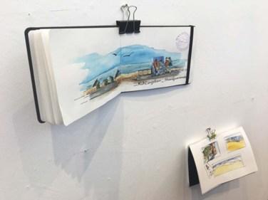 Und die Urban Sketcher nagelten gleich ihre gesamten Bücher an die Wände. (c) Sonja Jannichsen (3)