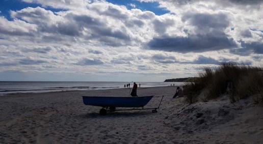 Malen am Strand von Baabe - spannendes Gegenlicht (c) FRank Koebsch