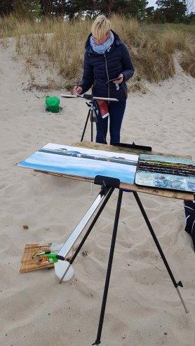 Wir malen Fischerboote am Starnd von Baabe (c) Frank Koebsch (10)
