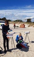 Wir malen Fischerboote am Starnd von Baabe (c) Frank Koebsch (3)