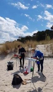 Wir malen Fischerboote am Starnd von Baabe (c) Frank Koebsch (5)