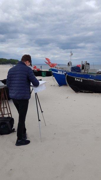 Wir malen Fischerboote am Starnd von Baabe (c) Frank Koebsch (6)