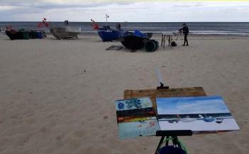 Wir malen Fischerboote am Starnd von Baabe (c) Frank Koebsch (7)
