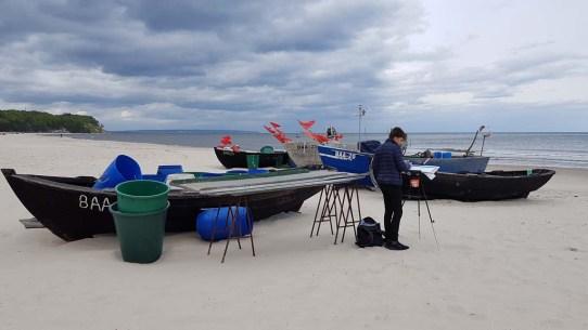 Wir malen Fischerboote am Starnd von Baabe (c) Frank Koebsch (8)