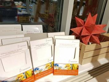 Auswahl von Probepapier von Hahnemühle im Workshop Weihnachtsaquarelle (c) Frank Koebsch