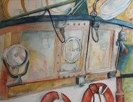 Bereit zur grossen Fahrt (c) Aquarell von Frank Koebsch
