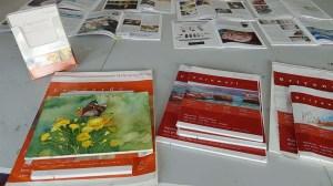 Eine Auswahl von Hahnemühle Aquarellpapiere beim Tag der offenen Tür der VHS Rostock (c) Frank Koebsch