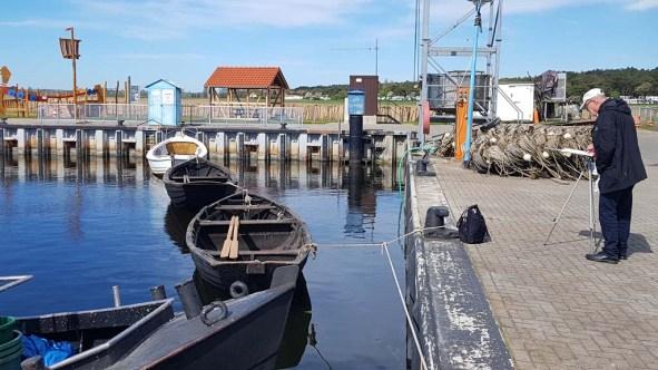 Malen im Hafen von Thiessow (c) Frank Koebsch (4)