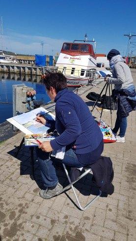 Malen im Hafen von Thiessow (c) Frank Koebsch (6)Malen im Hafen von Thiessow (c) Frank Koebsch (6)