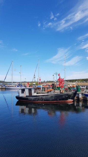 Unser Motiv - ein Kutter im Hafen von Thiessow (c) FRank Koebsch (1)