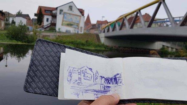 Urban Sketching in Schwaan (c) Frank Koebsch