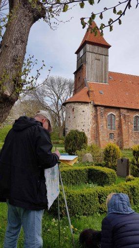 Malen der Kirche von Middelhagen (c) Frank Koebsch (3)