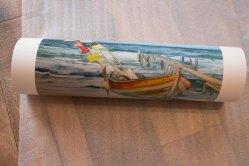 Druck auf Hahnemühle Papier Albrecht Dürer vom Aquarell - Boot am Strand (c) Frank Koebsch (1)