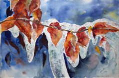 Erster Frost (c) Aquarell von Hanka Koebsch