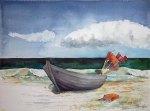 Fischerboot am Strand (c) Aquarell von Frank Koebsch