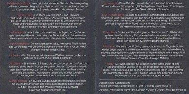 Titelliste der CD Winterabend des Gitarrenduos Ebert & Beringer