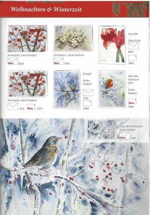 Unsere Winter- und Weihnachts Aquarelle im Herbt- und Winter Katalog 2018 des Präsenz Verlages