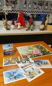 Druck auf Hahneühlepapier Albrecht Dürer vom Aquarell - Rosengarten mit Kunstkarten und Kalender (c) Frank Koebsch
