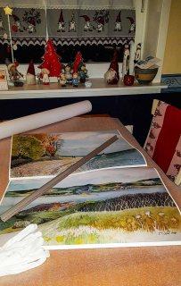Drucke auf Hahnemühlepapier - Albrecht Dürer von den Rügen Aquarellen - Herbst am Südstrand von Sellin und Blick über den Bodden auf die Zickerschen Berge (c) Frank Koebsch (1)
