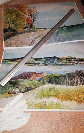 Drucke auf Hahnemühlepapier - Albrecht Dürer von den Rügen Aquarellen - Herbst am Südstrand von Sellin und Blick über den Bodden auf die Zickerschen Berge (c) Frank Koebsch (2)