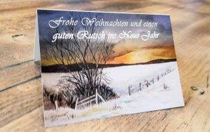 Eine-Weihnachtskarte-mit-dem-Motiv-des-Aquarells-Winterabend-c-Frank-Koebsch-k