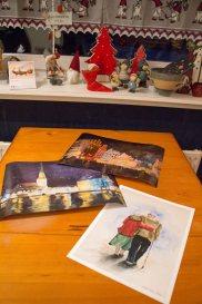 Posterdrucke von zwei Rostocker Aquarellen und Druck auf Hahnemühlepapier vom Aquarell - Heute scheint die Sonne (c) Frank Koebsch
