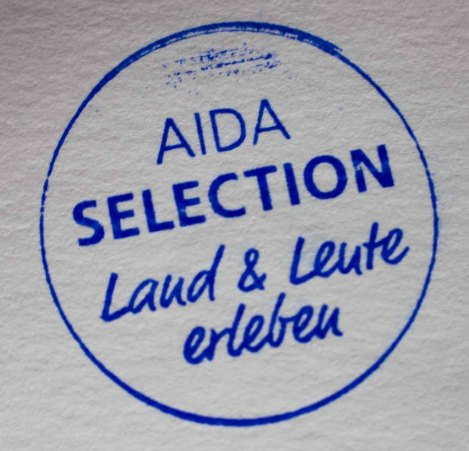 Stempel - AIDA Selection – Land & Leute entdecken