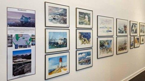 Aquarelle aus dem Projekt Nordtouren von Hanka & Frank Koebsch in der Kunsthalle Kühlungsborn