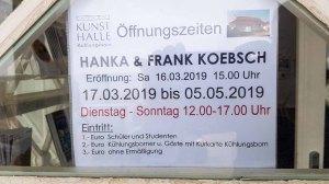 Öffnungszeiten der Ausstellung von Hanka & Frank Koebsch in der Kunsthalle Kühlungsborn