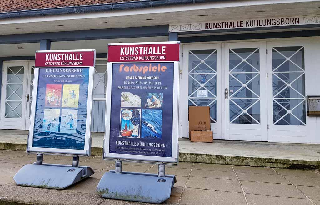 Die Ankündigung der Ausstellung Farbspiele von H&F Koebsch in der Kunsthalle Kühlungsborn (1)