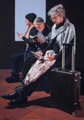 Drei Frauen (c) Pastell von Susanne Mull