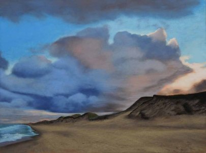 Susanne Mull - Nordische Küste No. 14, Pastell im Format 58 x 78 cm