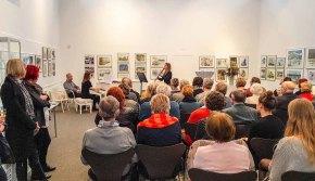 Emily Poser & Mirijam Stitz spielen bei der Eröffnung unserer Ausstellung Farbspiele (c) Frank Koebsch 4