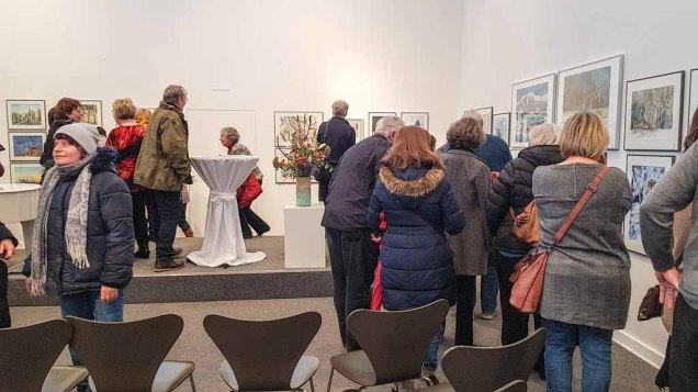 Gäste bei der Eröffnung unserer Ausstellung Farbspiele (c) Frank Koebsch (2)